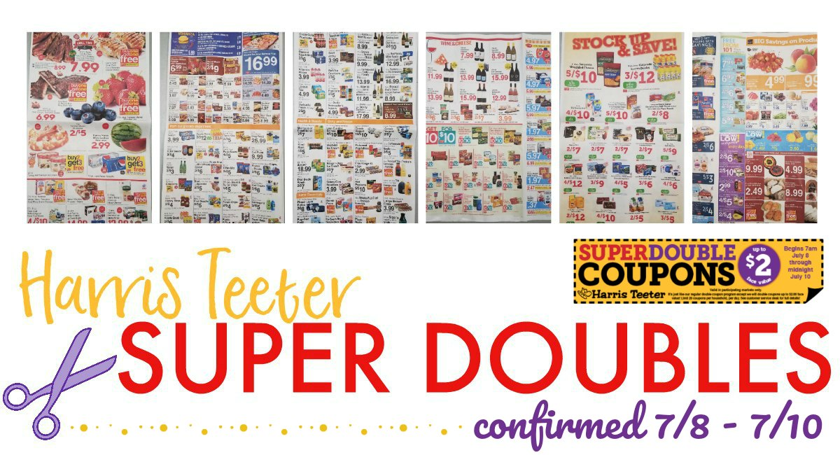 Harris Teeter SUPER DOUBLES *CONFRMED* 7/8 – 7/10 {Matchups + Ad Scan}