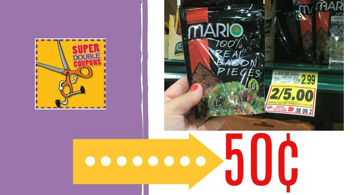 Mario Bacon Bits 50¢ at Harris Teeter! - The Harris Teeter Deals