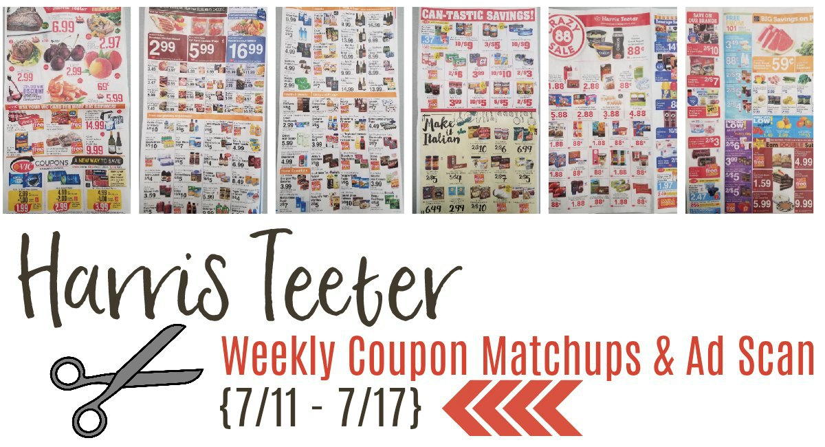 Harris Teeter Deals Weekly Matchups + Ad Scan 7/11 – 7/17