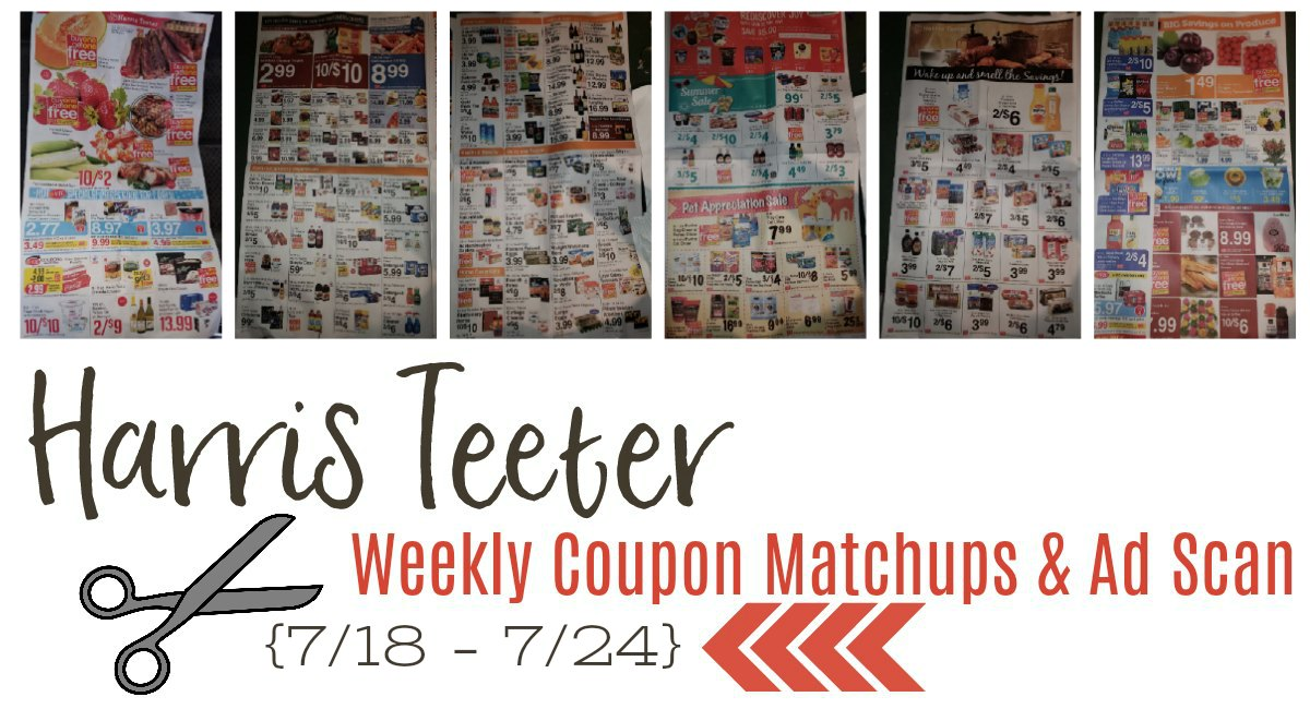 Harris Teeter Deals Weekly Matchups + Ad Scan 7/18 – 7/24