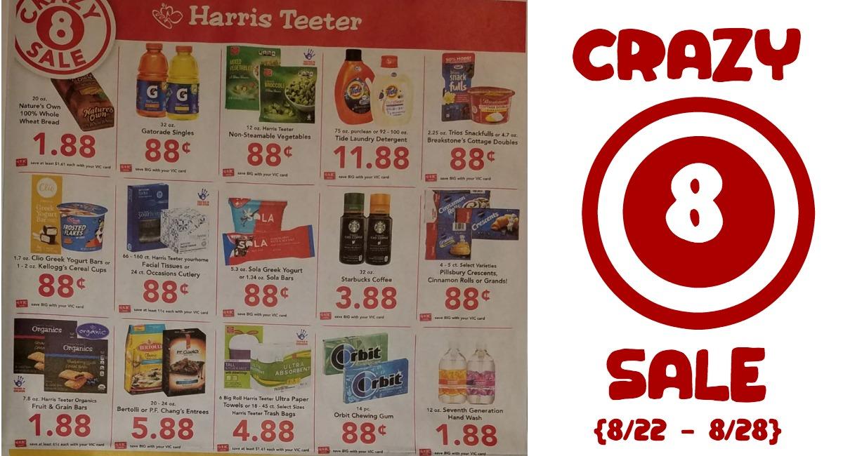 photo regarding Crazy8 Printable Coupons called Long term Nuts 8 Sale at Harris Teeter! - The Harris Teeter