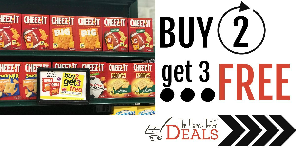 graphic about Cheez It Coupon Printable known as Get 2 purchase 3 Cost-free Cheez-It Crackers at Harris Teeter! Coupon