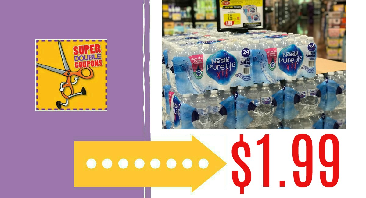 c8b022f988 Clip the paper OR e-coupon and pay just $1.99 this week at Harris Teeter.  On sale through 8/14. Nestle Pure Life Water, 24 pk ...