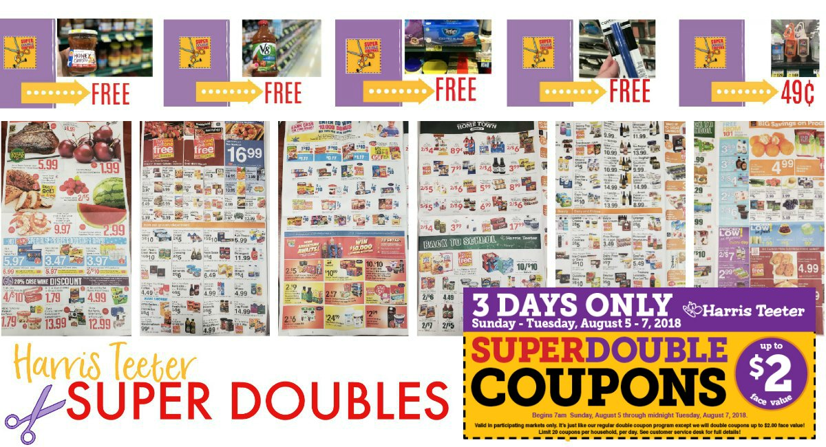 Harris Teeter Super Doubles: CONFIRMED 8/5 – 8/7 {Ad Scan + Printable List}