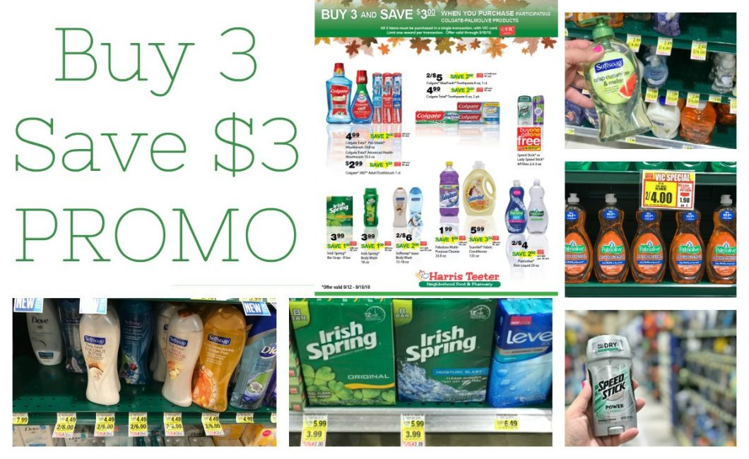 Colgate-Palmolive Buy 3 save $3 Promo at Harris Teeter!