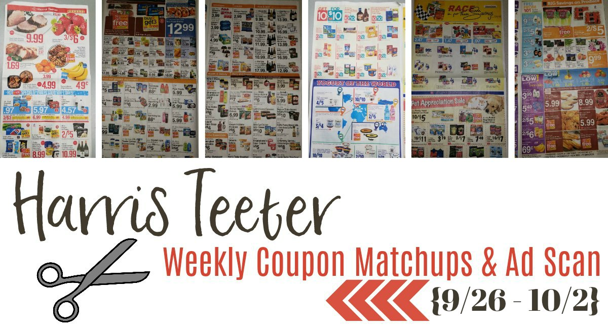 Harris Teeter Deals Weekly Matchups + Ad Scan 9/26 – 10/2