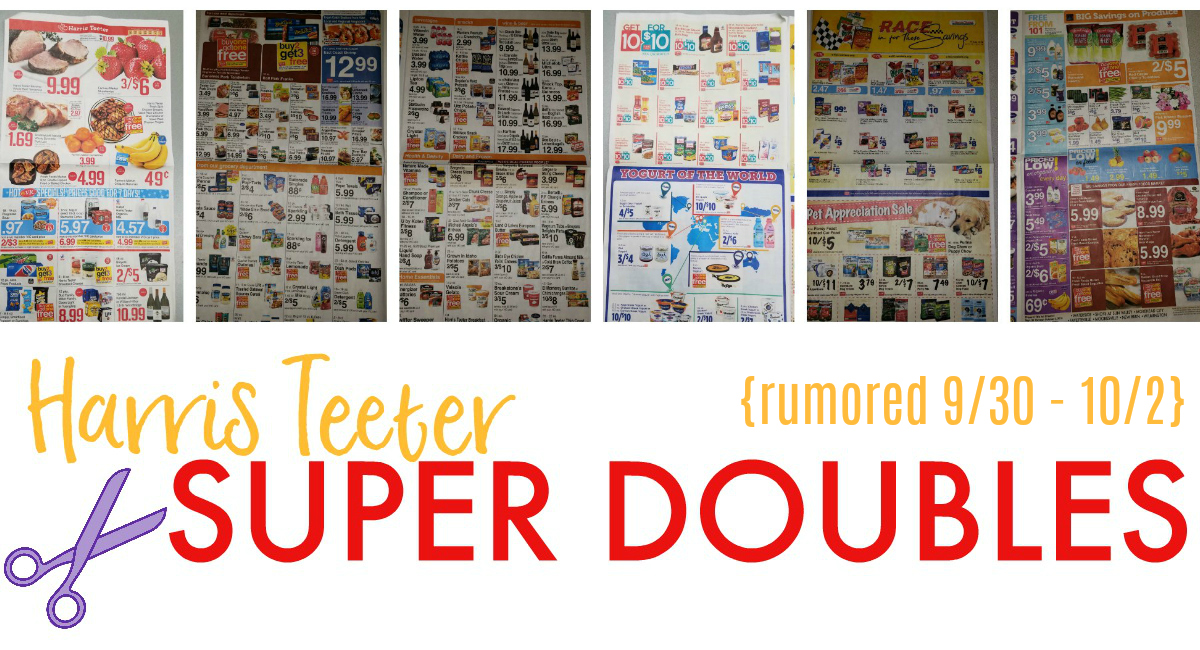 SUPER DOUBLES Printable List + AD SCAN: Rumored Dates 9/30 – 10/2