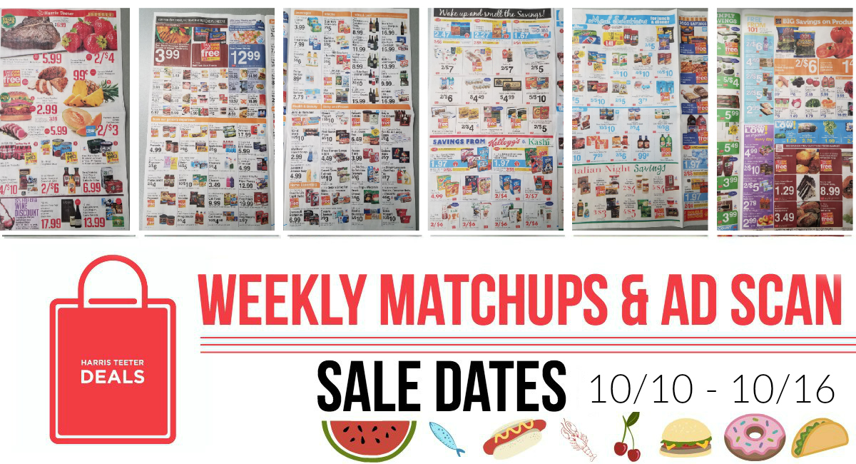Harris Teeter Deals Weekly Matchups + Ad Scan 10/10 – 10/16