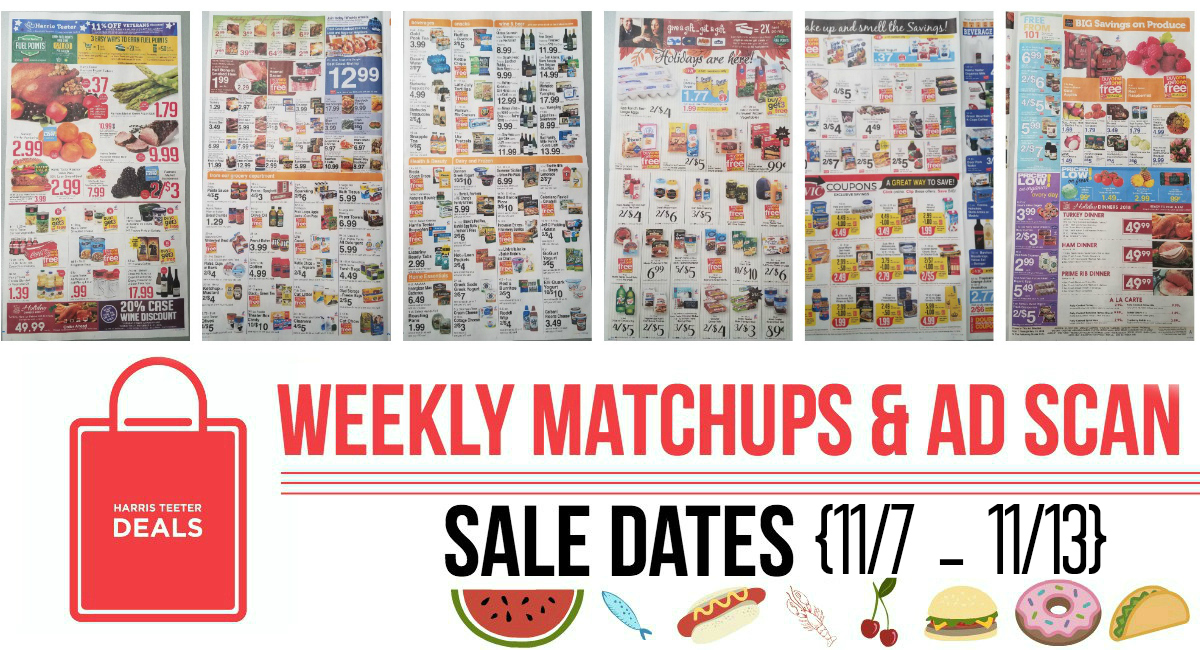 Harris Teeter Deals Weekly Matchups + Ad Scan 11/7 – 11/13