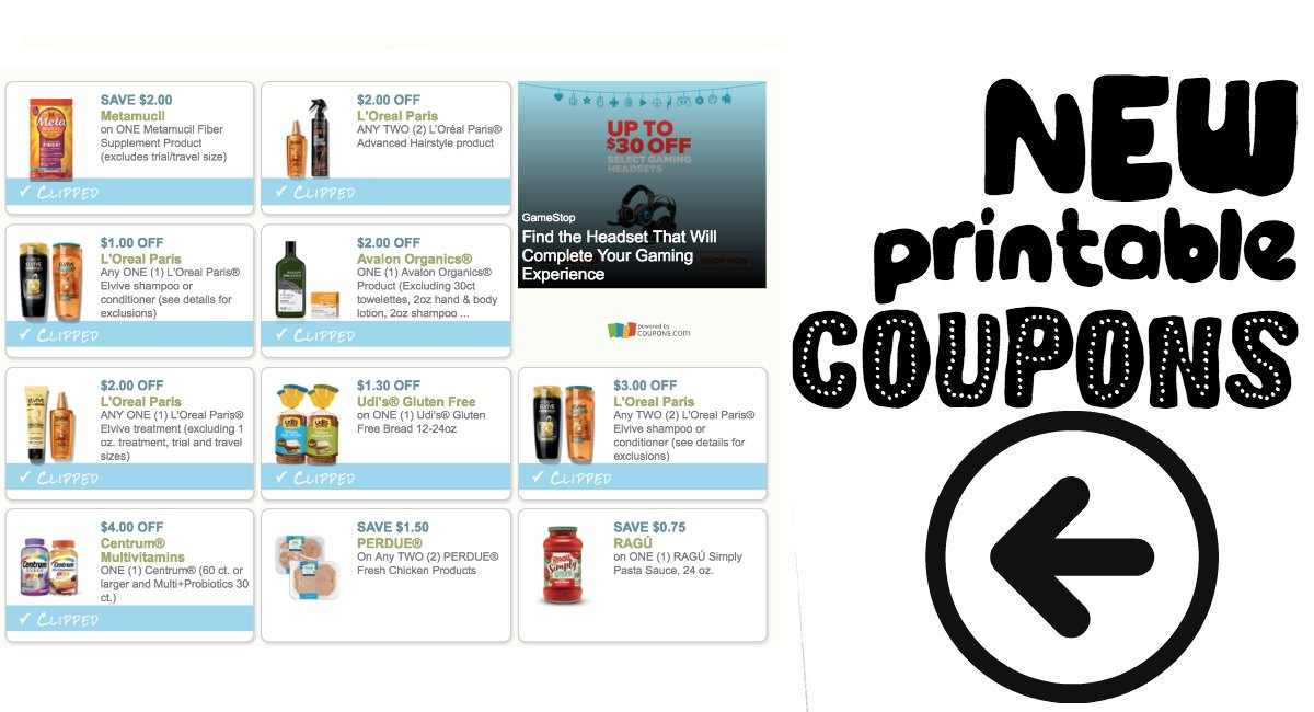 image relating to Gluten Free Coupons Printable named Fresh Printable Discount codes LOreal, Udi, Centrum, and further