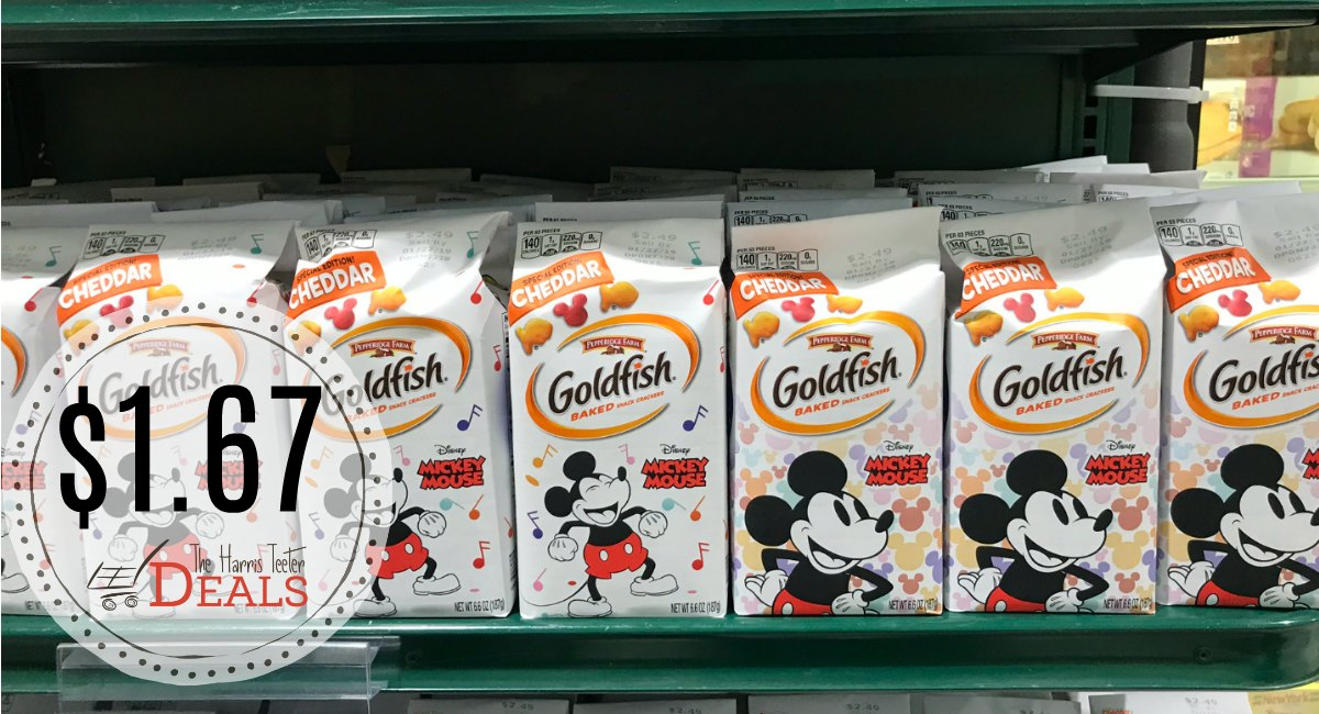 image about Goldfish Printable Coupons identified as Pepperidge Farm Goldfish $1.67 at Harris Teeter! - The