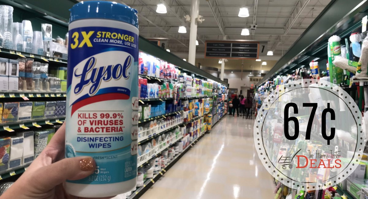 PRINT NOW: Lysol Wipes and Toilet Bowl Cleaner 67¢ at Harris Teeter! -Starts WEDNESDAY!
