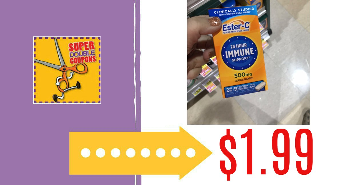 photograph about Ester C Coupons Printable identify Ester-C Basically $1.99 at Harris Teeter naturally $11.99! - The
