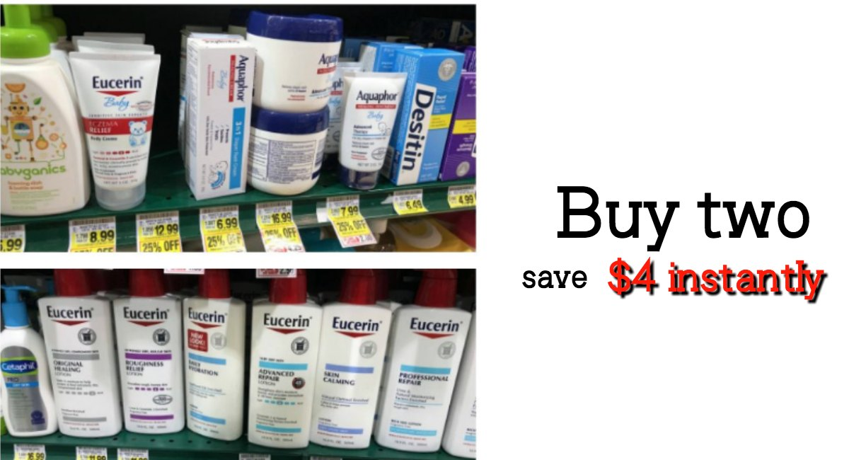 photo regarding Aquaphor Printable Coupon titled Warm Invest in 2 preserve $4 Eucerin, Nivea, or Aquphor Promo + Coupon codes