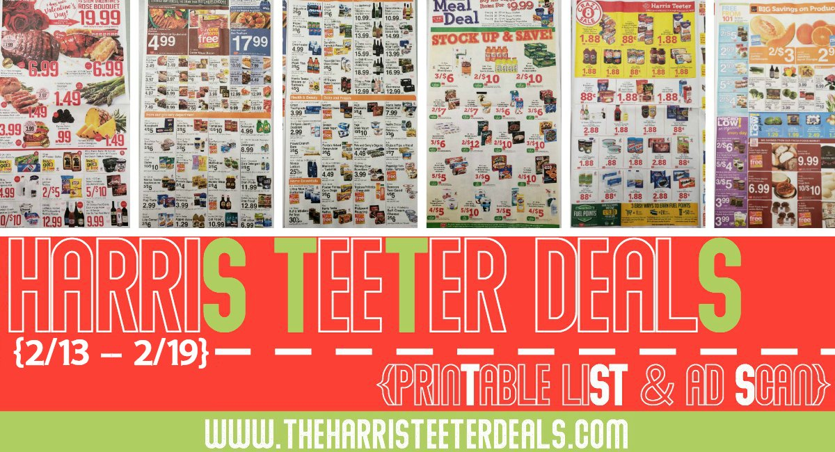 Harris Teeter Deals Weekly Matchups + Ad Scan 2/13 – 2/19