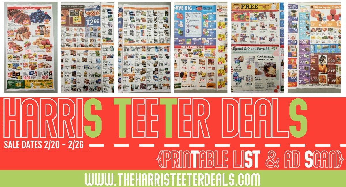 Harris Teeter Deals Weekly Matchups + Ad Scan 2/20 – 2/26