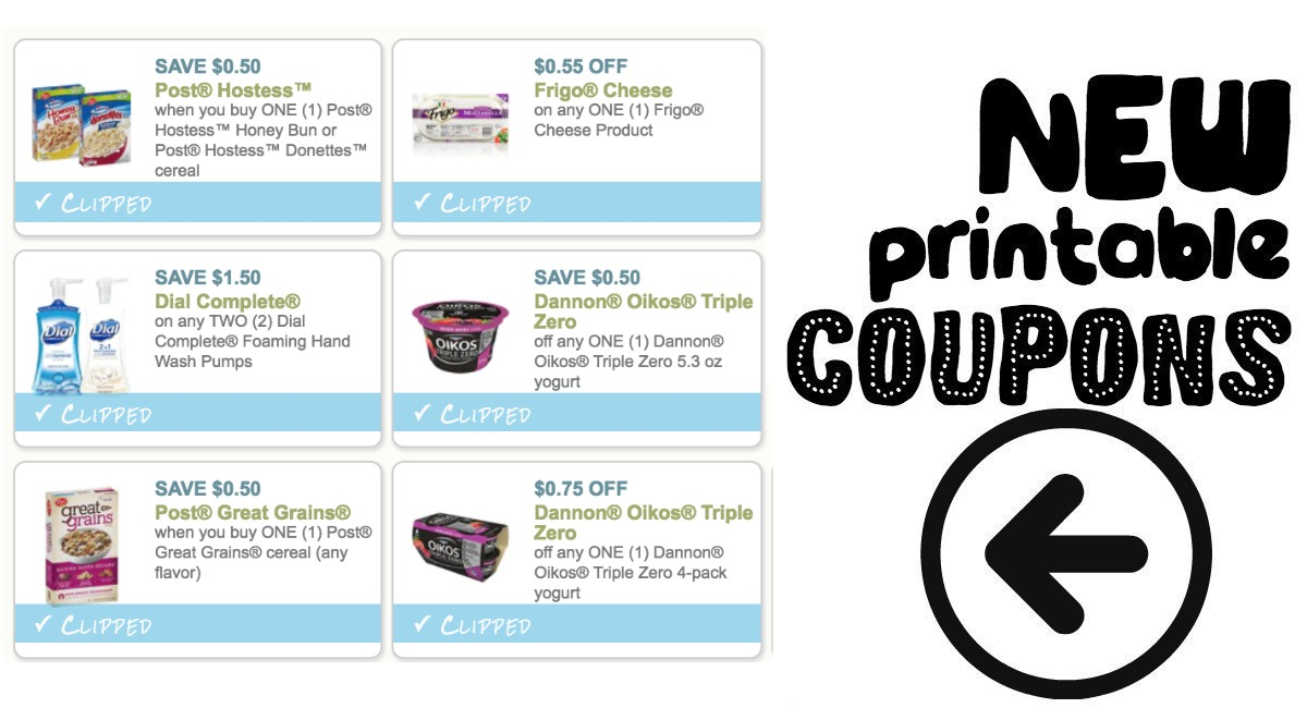 image relating to Yogurt Coupons Printable identified as Fresh Printable Discount coupons! Frigo, Dannon and added! - The