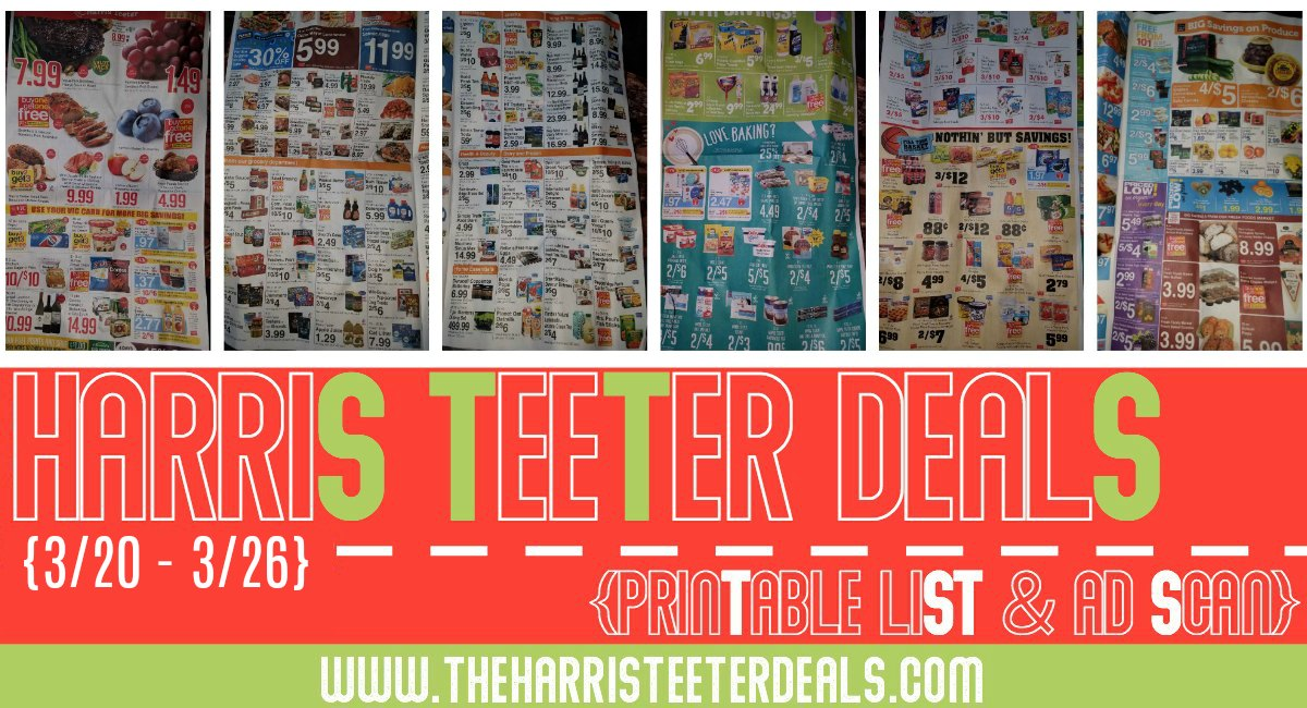 Harris Teeter Deals Weekly Matchups + Ad Scan 3/20 – 3/26