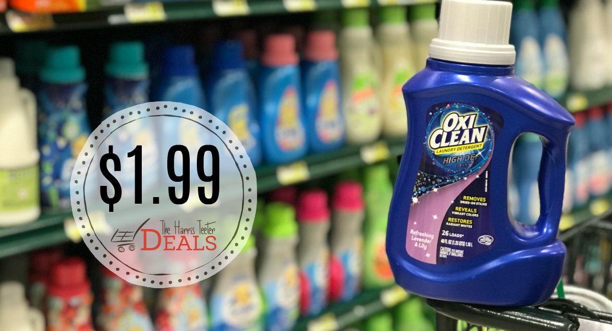 Oxi Clean Detergent $1 99 at Harris Teeter! - The Harris Teeter Deals