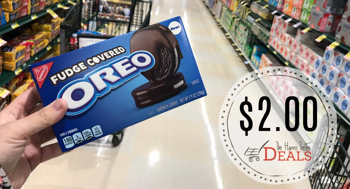 graphic regarding Oreo Printable Coupons named Fudge Protected Oreos $2.00 at Harris Teeter! - The Harris