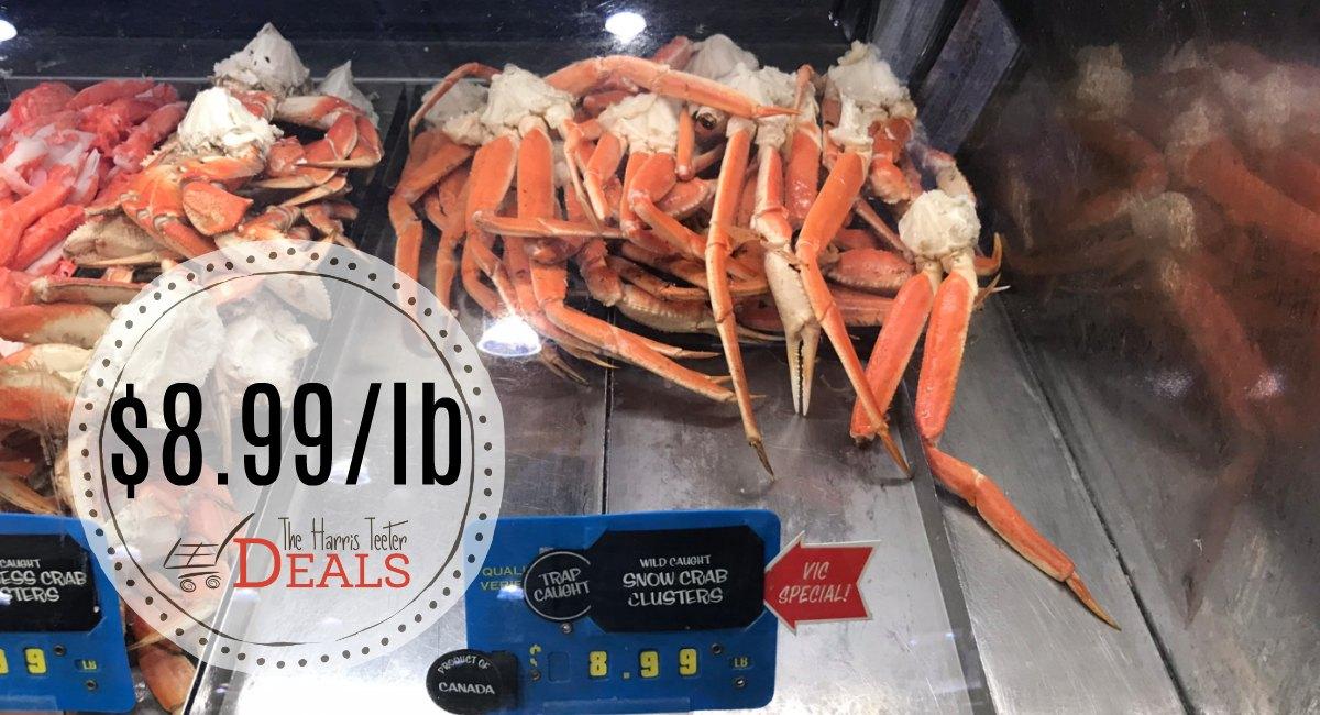 Snow Crab Clusters $8 99/lb THIS Week! - The Harris Teeter Deals