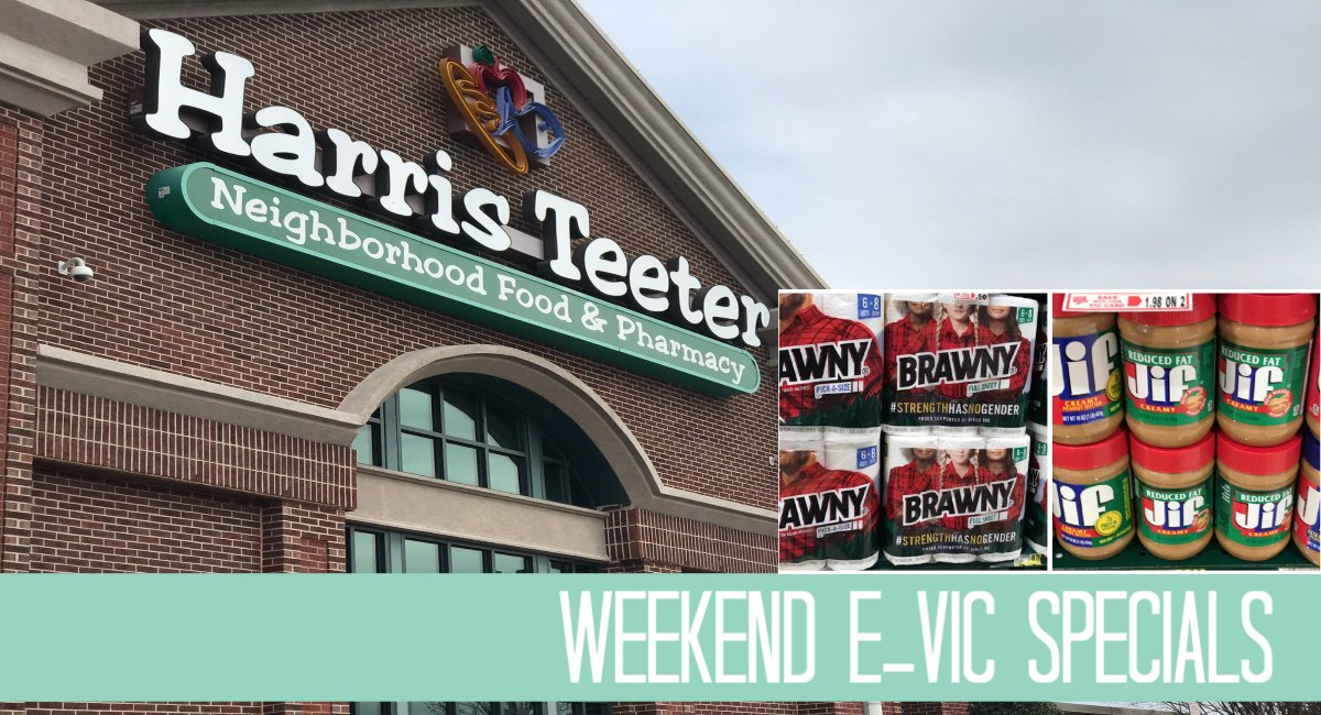 Harris Teeter Weekend e-VIC Specials 4/19 – 4/23 {peanut butter and paper towels}