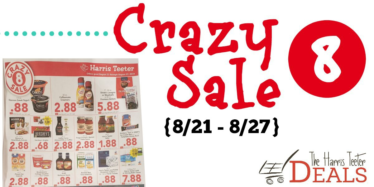 picture regarding Crazy8 Printable Coupons identify Nuts 8 Sale at Harris Teeter 8/21 - 8/27 - The Harris