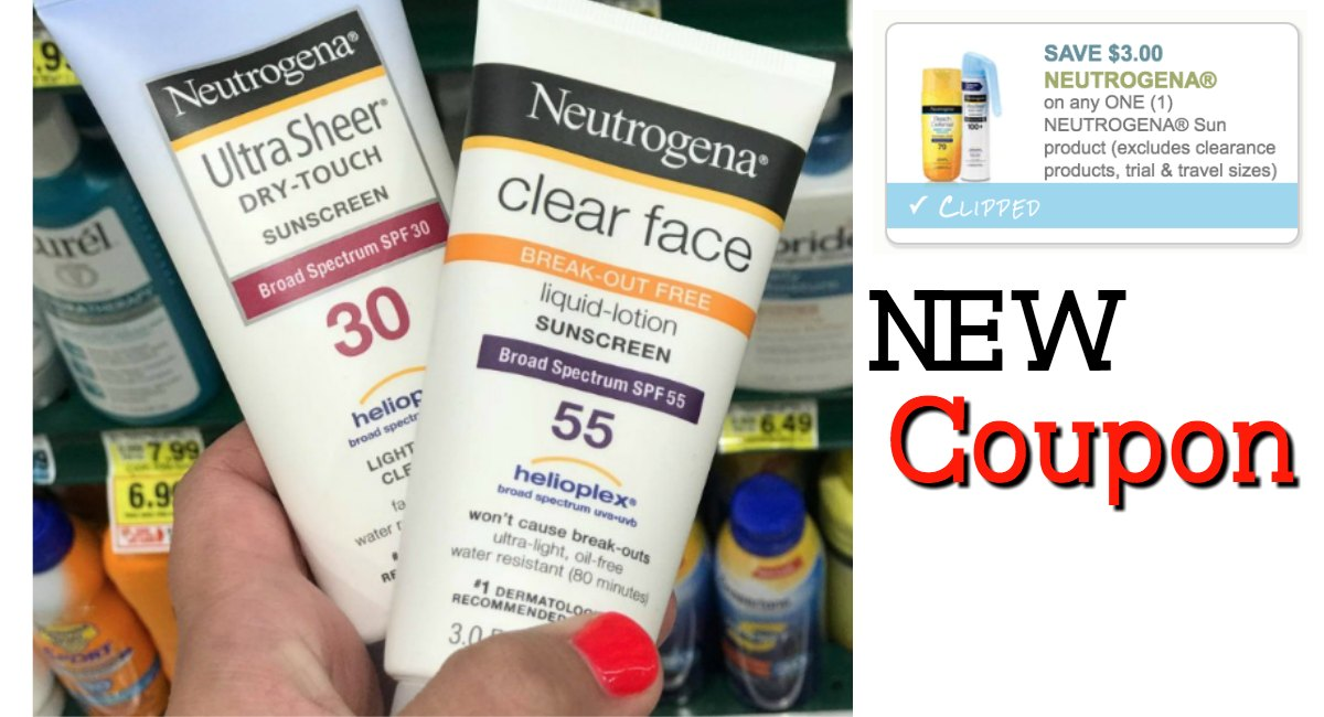 coupon sunscreen neutrogena