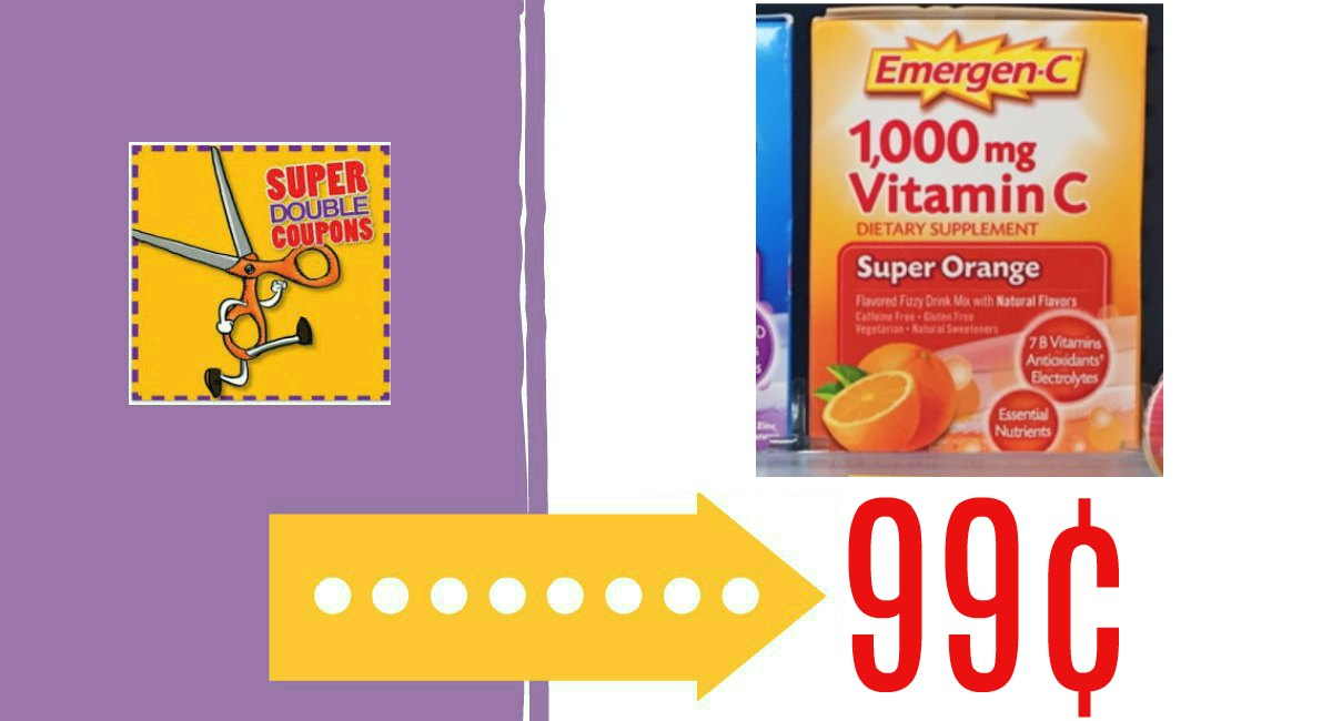 photo about Emergen C Coupon Printable identified as Emergen-C Simply just 99¢ at Harris Teeter! - The Harris Teeter Offers