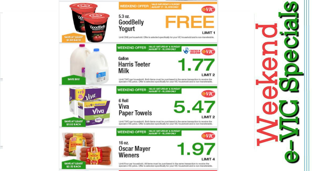 Weekend E Vic Specials Free Good Belly Yogurt More