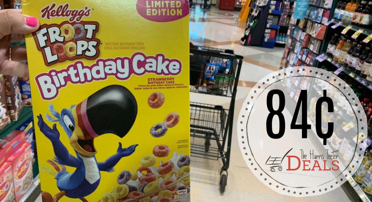 Incredible Birthday Cake Froot Loops 84 At Harris Teeter The Harris Funny Birthday Cards Online Hendilapandamsfinfo